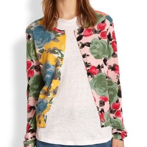 MARC JACOBS Alternating Floral Patterned Cardigan